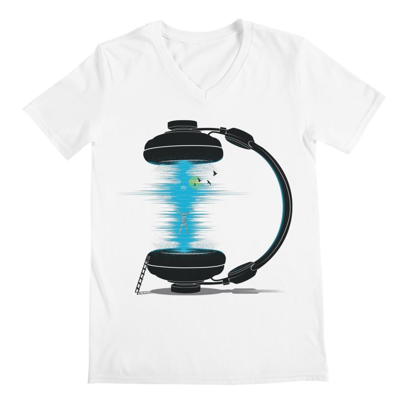 Music is a Portal Men's V-Neck by yurilobo's Artist Shop