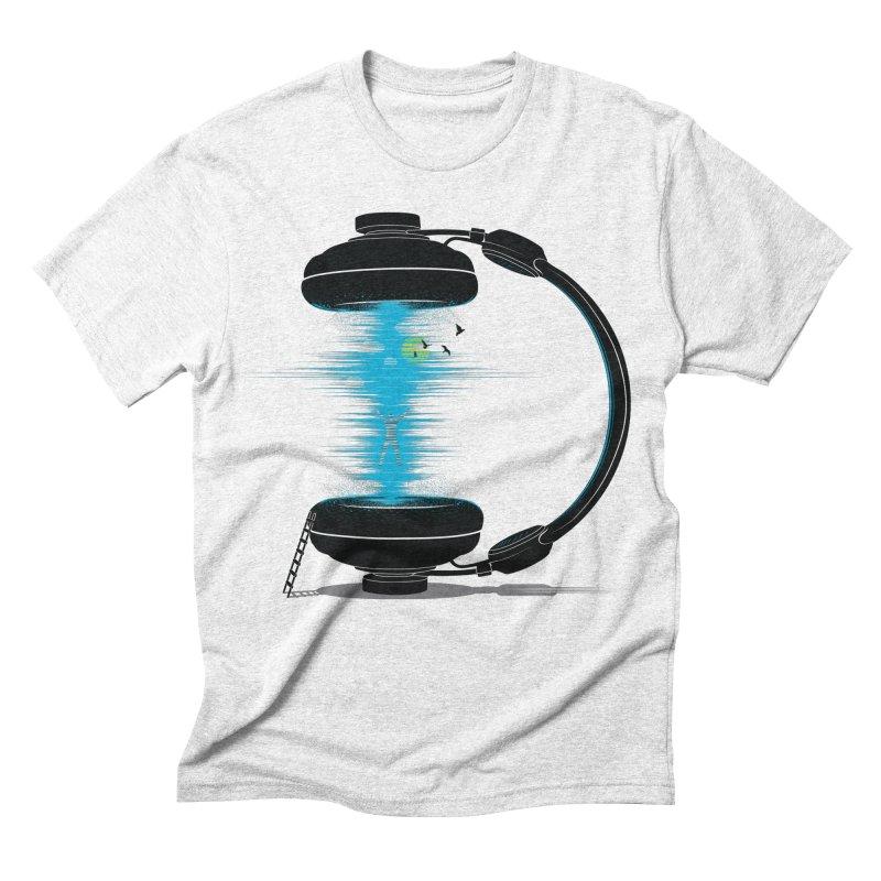 Music is a Portal Men's Triblend T-shirt by yurilobo's Artist Shop