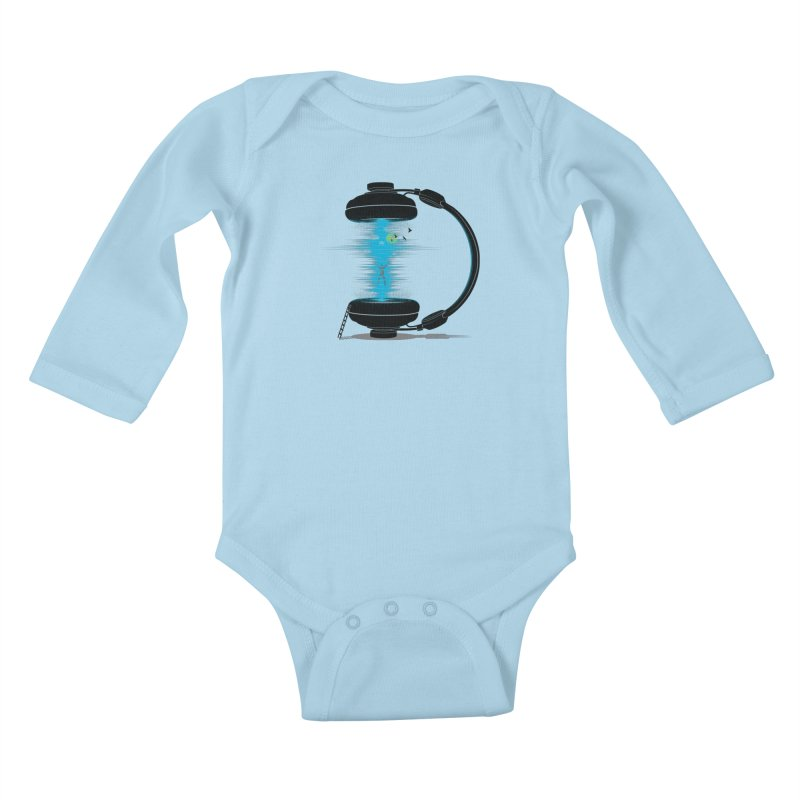 Music is a Portal Kids Baby Longsleeve Bodysuit by yurilobo's Artist Shop