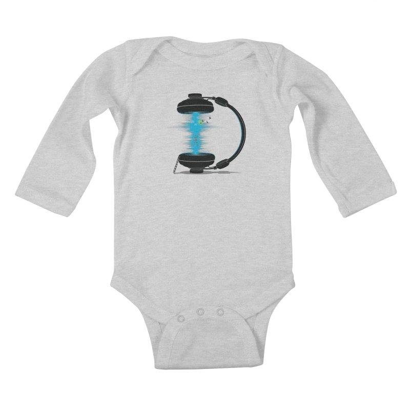 Music is a Portal Kids Baby Longsleeve Bodysuit by yurilobo's Artist Shop