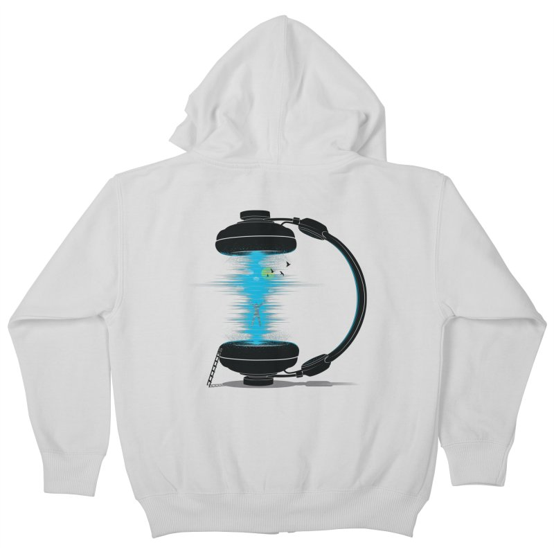 Music is a Portal Kids Zip-Up Hoody by yurilobo's Artist Shop