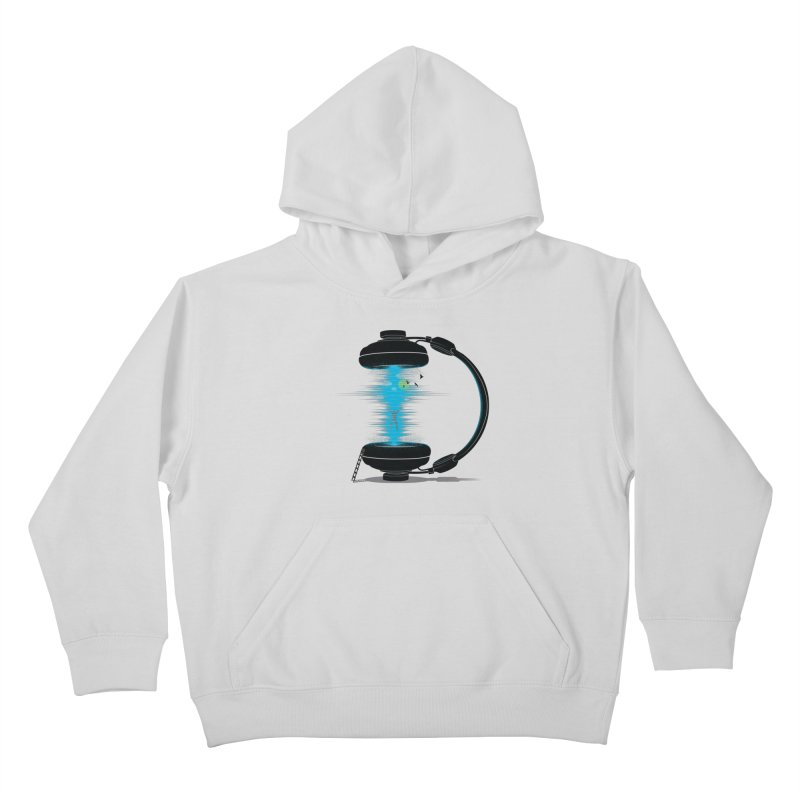 Music is a Portal Kids Pullover Hoody by yurilobo's Artist Shop