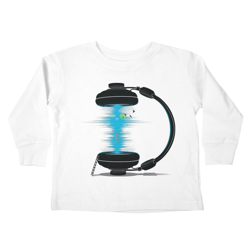 Music is a Portal Kids Toddler Longsleeve T-Shirt by yurilobo's Artist Shop