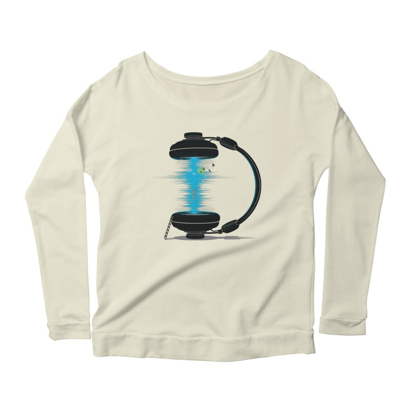Music is a Portal Women's Longsleeve Scoopneck  by yurilobo's Artist Shop