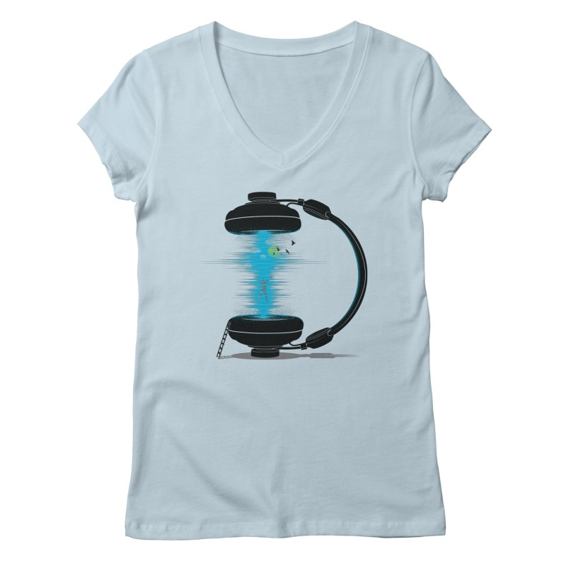 Music is a Portal Women's V-Neck by yurilobo's Artist Shop