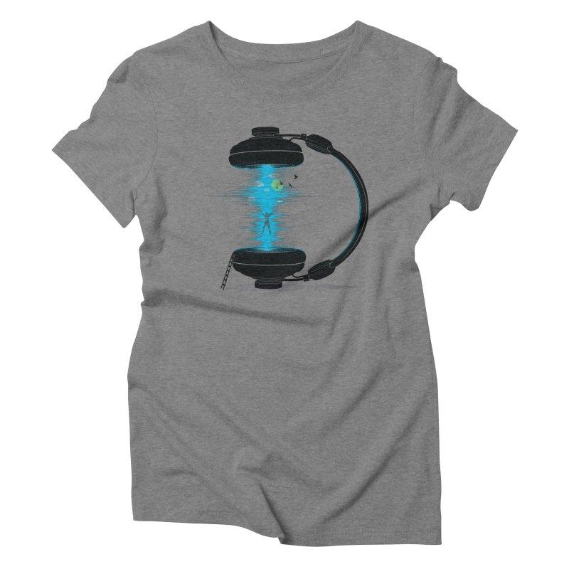 Music is a Portal Women's Triblend T-shirt by yurilobo's Artist Shop