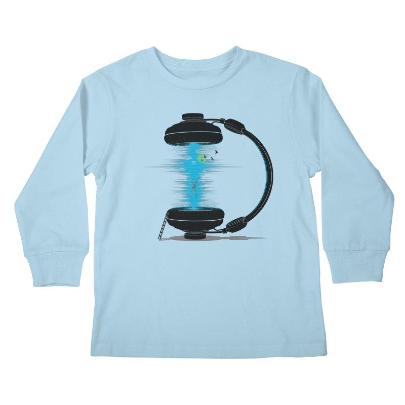 Music is a Portal Kids Longsleeve T-Shirt by yurilobo's Artist Shop