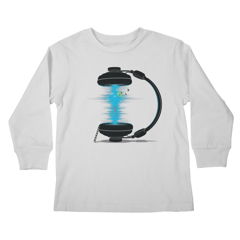 Music is a Portal Kids Longsleeve T-Shirt by yurilobo's Artist Shop