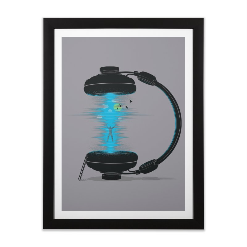 Music is a Portal Home Framed Fine Art Print by yurilobo's Artist Shop