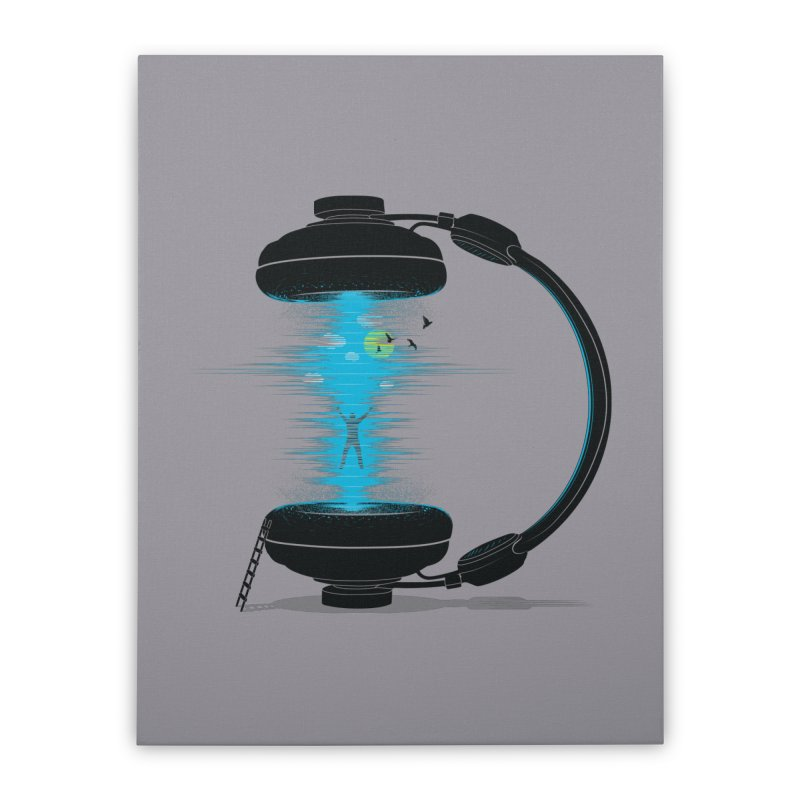 Music is a Portal Home Stretched Canvas by yurilobo's Artist Shop