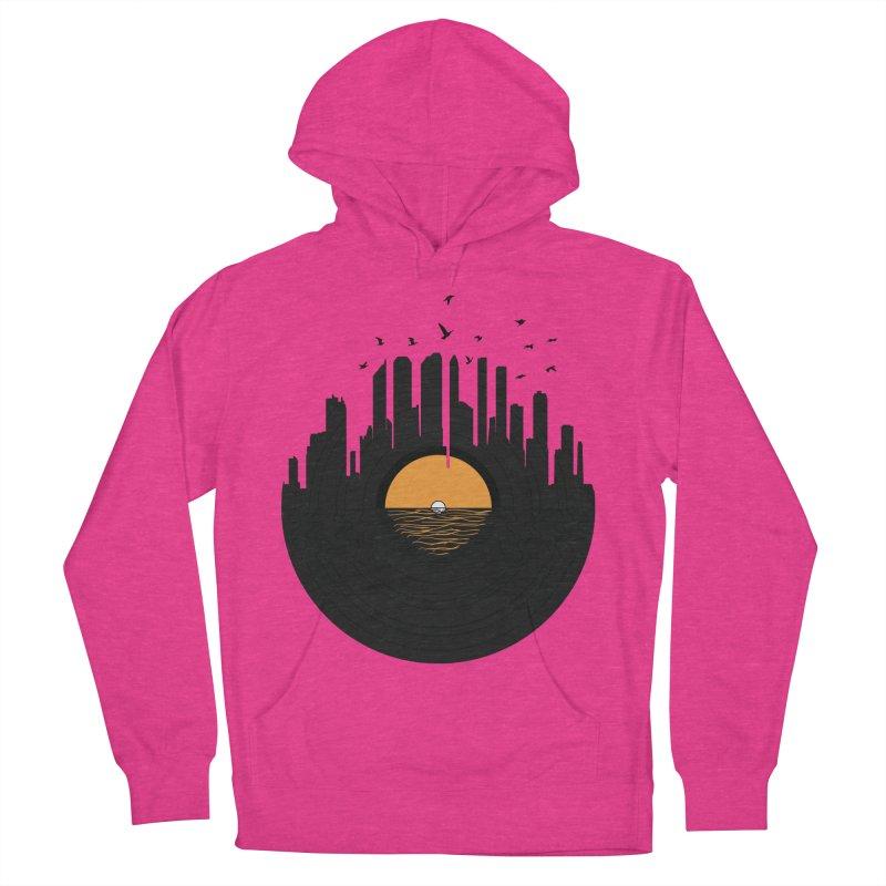 Vinyl City Women's Pullover Hoody by yurilobo's Artist Shop