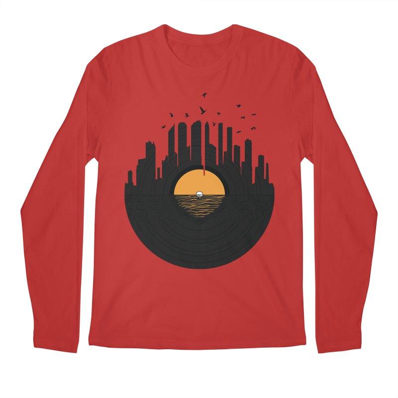 Vinyl City Men's Longsleeve T-Shirt by yurilobo's Artist Shop