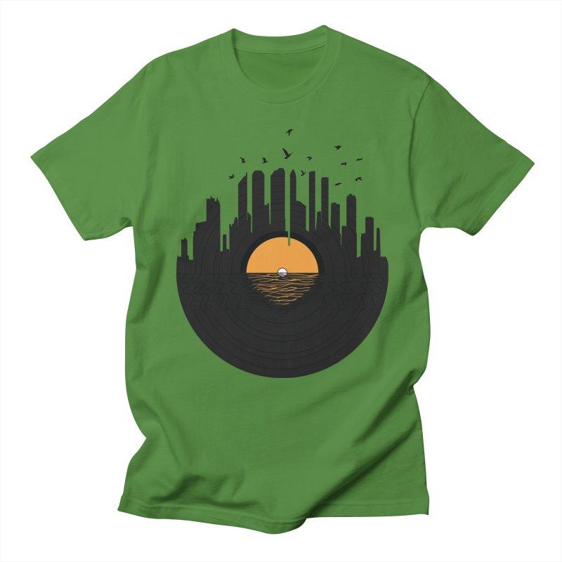 Vinyl City Men's Regular T-Shirt by yurilobo's Artist Shop
