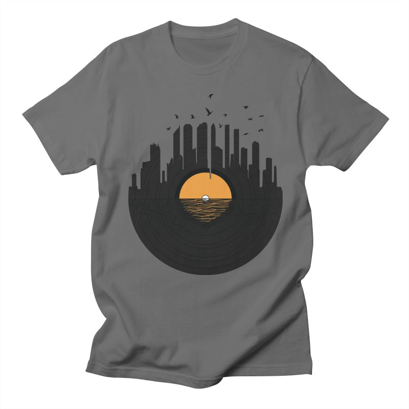 Vinyl City Men's Regular T-Shirt by yurilobo's Artist Shop
