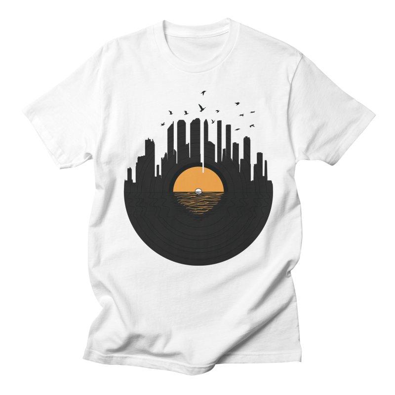 Vinyl City Men's T-Shirt by yurilobo's Artist Shop