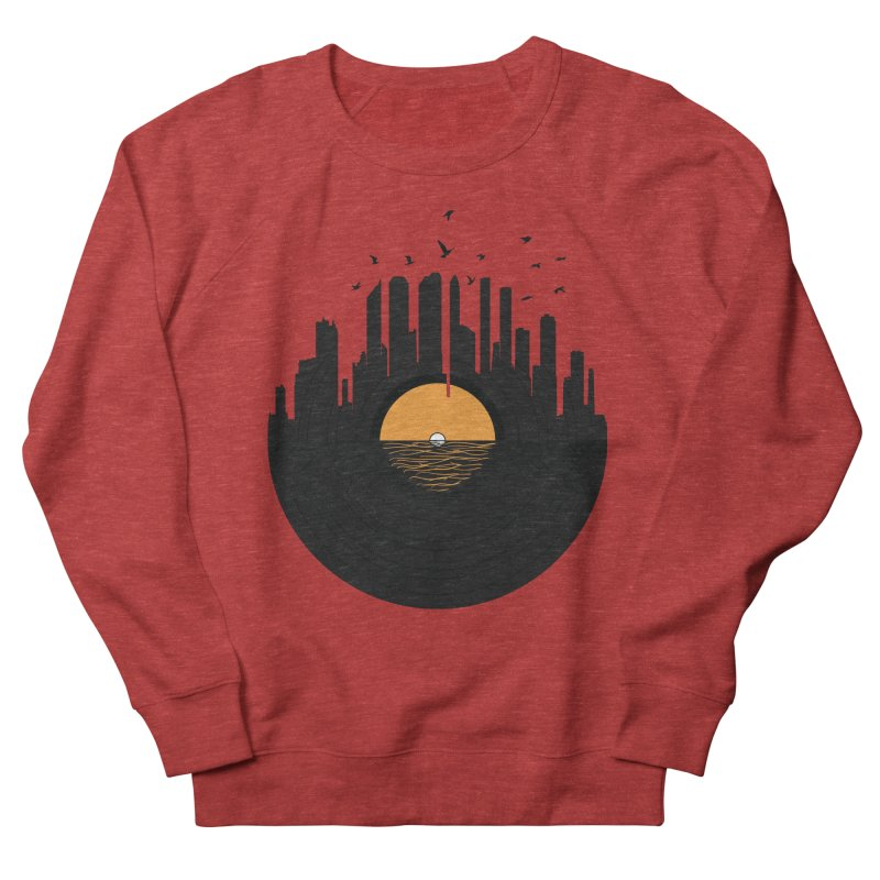 Vinyl City Women's French Terry Sweatshirt by yurilobo's Artist Shop
