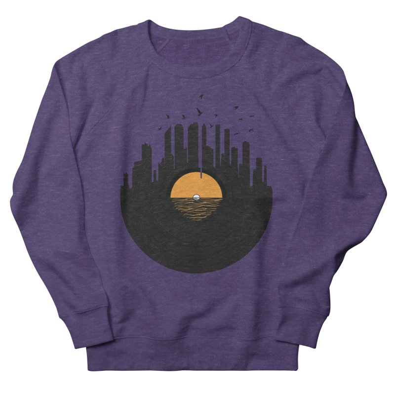 Vinyl City Men's French Terry Sweatshirt by yurilobo's Artist Shop