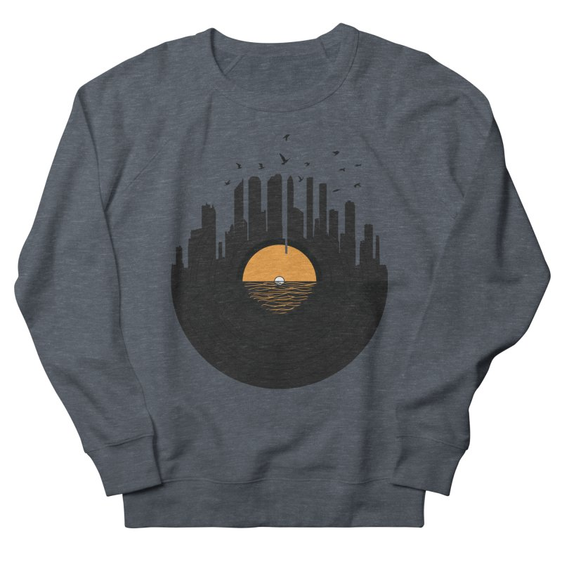 Vinyl City Men's Sweatshirt by yurilobo's Artist Shop