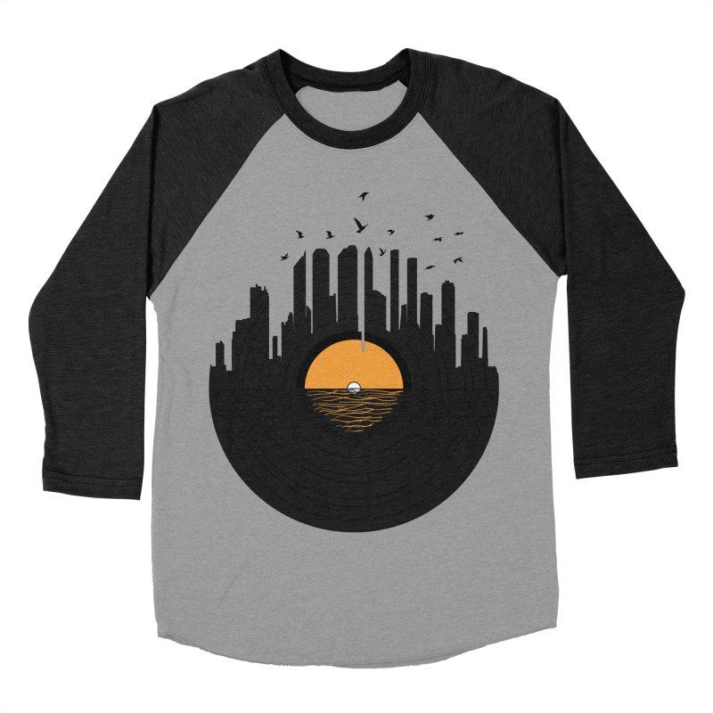 Vinyl City Women's Baseball Triblend T-Shirt by yurilobo's Artist Shop