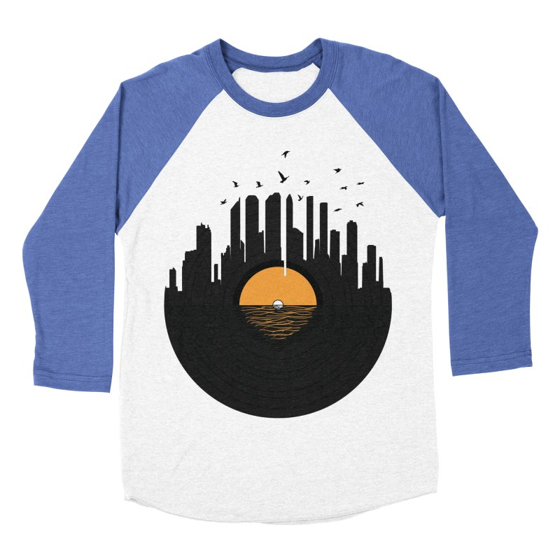 Vinyl City Men's Baseball Triblend Longsleeve T-Shirt by yurilobo's Artist Shop