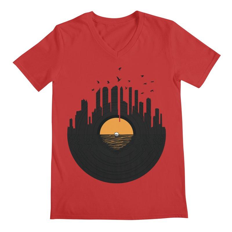 Vinyl City Men's V-Neck by yurilobo's Artist Shop