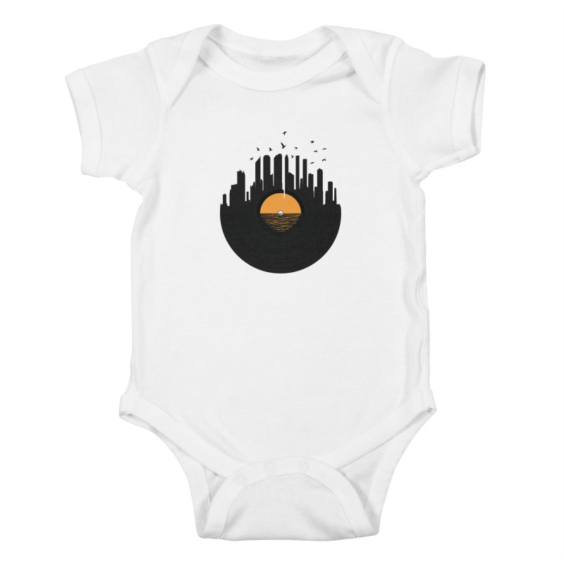 Vinyl City Kids Baby Bodysuit by yurilobo's Artist Shop