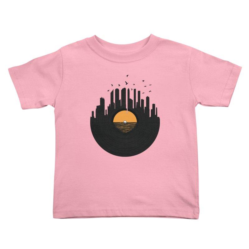 Vinyl City Kids Toddler T-Shirt by yurilobo's Artist Shop