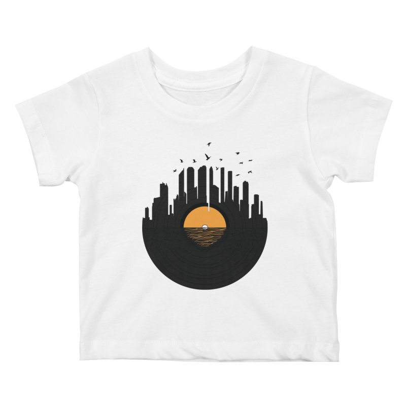 Vinyl City Kids Baby T-Shirt by yurilobo's Artist Shop
