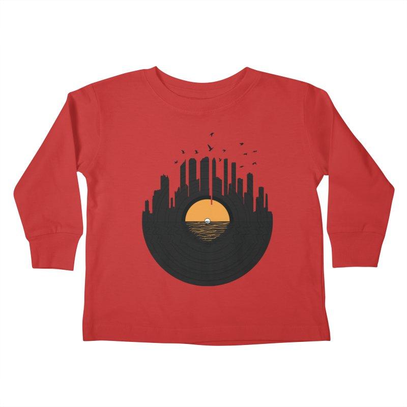 Vinyl City Kids Toddler Longsleeve T-Shirt by yurilobo's Artist Shop