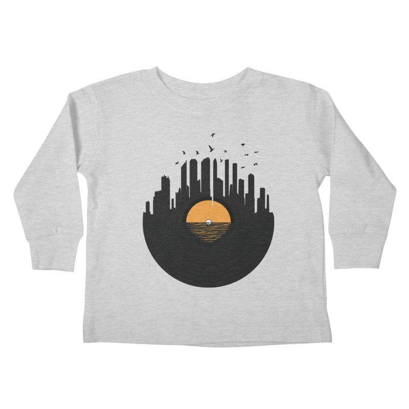 Vinyl City Kids Toddler Longsleeve T-Shirt by yurilobo's Artist Shop