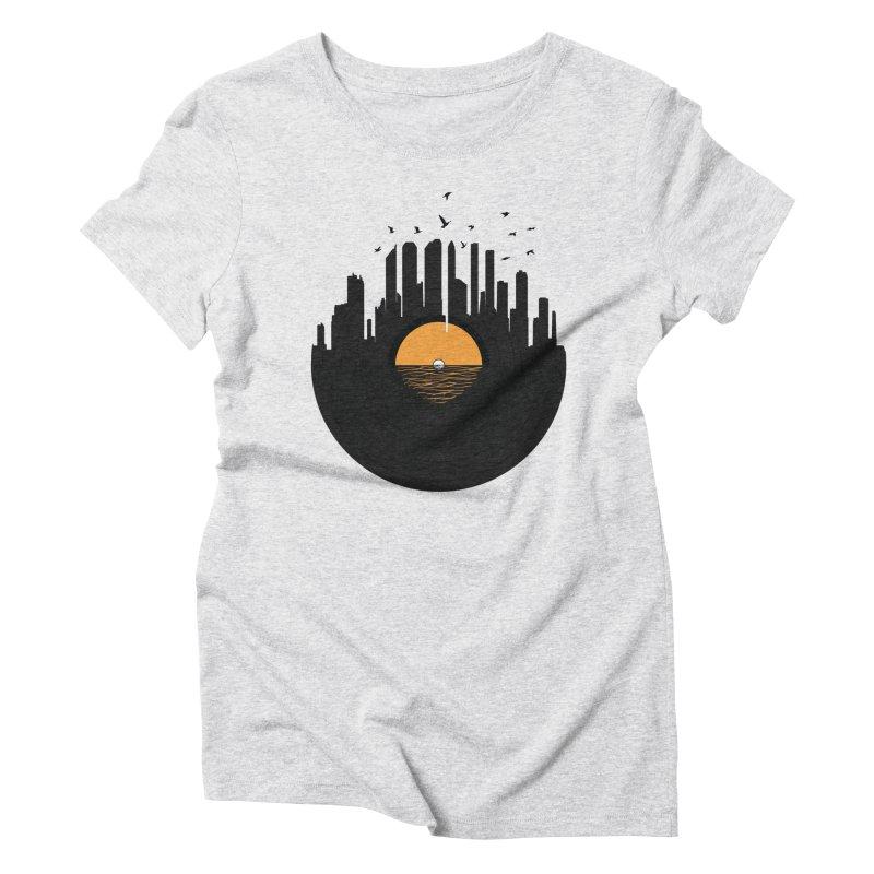 Vinyl City Women's Triblend T-shirt by yurilobo's Artist Shop