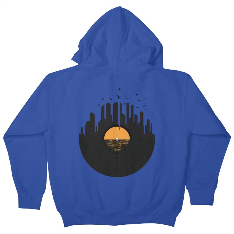 Vinyl City Kids Zip-Up Hoody by yurilobo's Artist Shop