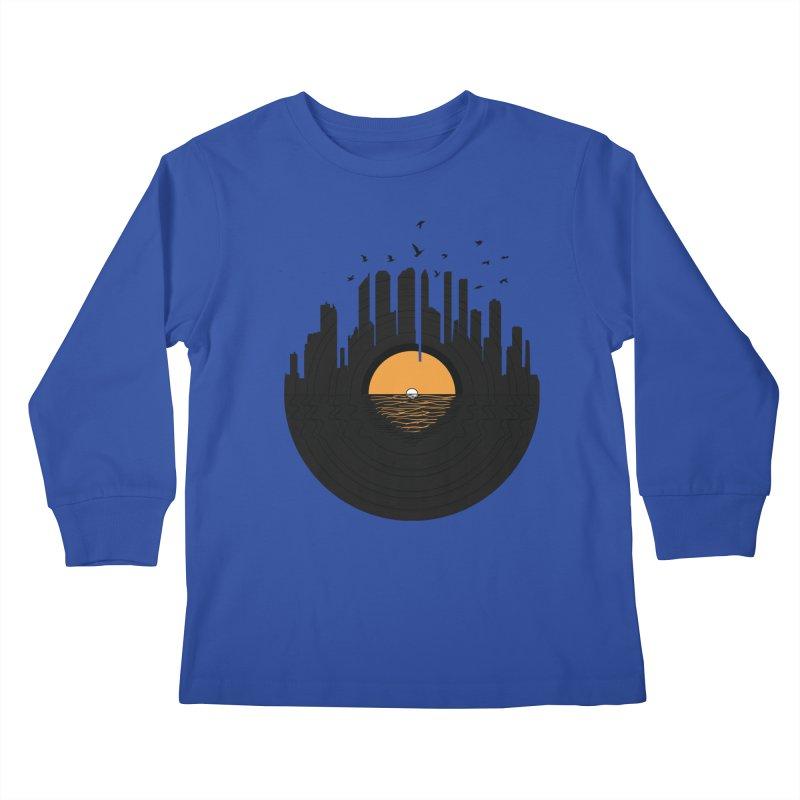 Vinyl City Kids Longsleeve T-Shirt by yurilobo's Artist Shop