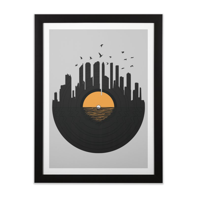 Vinyl City Home Framed Fine Art Print by yurilobo's Artist Shop