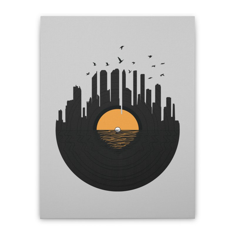 Vinyl City Home Stretched Canvas by yurilobo's Artist Shop