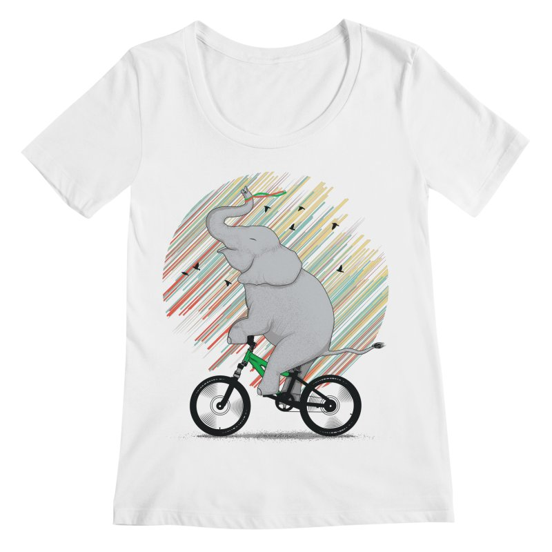 It's Like Riding a Bike Women's Scoopneck by yurilobo's Artist Shop