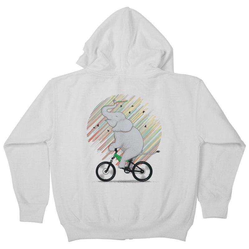It's Like Riding a Bike Kids Zip-Up Hoody by yurilobo's Artist Shop