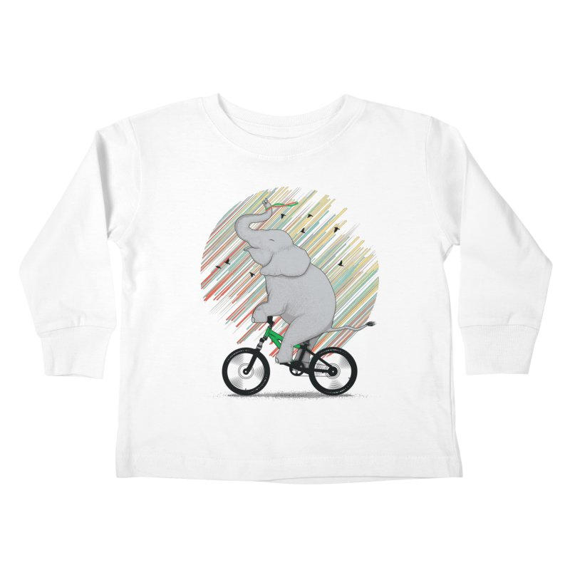 It's Like Riding a Bike Kids Toddler Longsleeve T-Shirt by yurilobo's Artist Shop