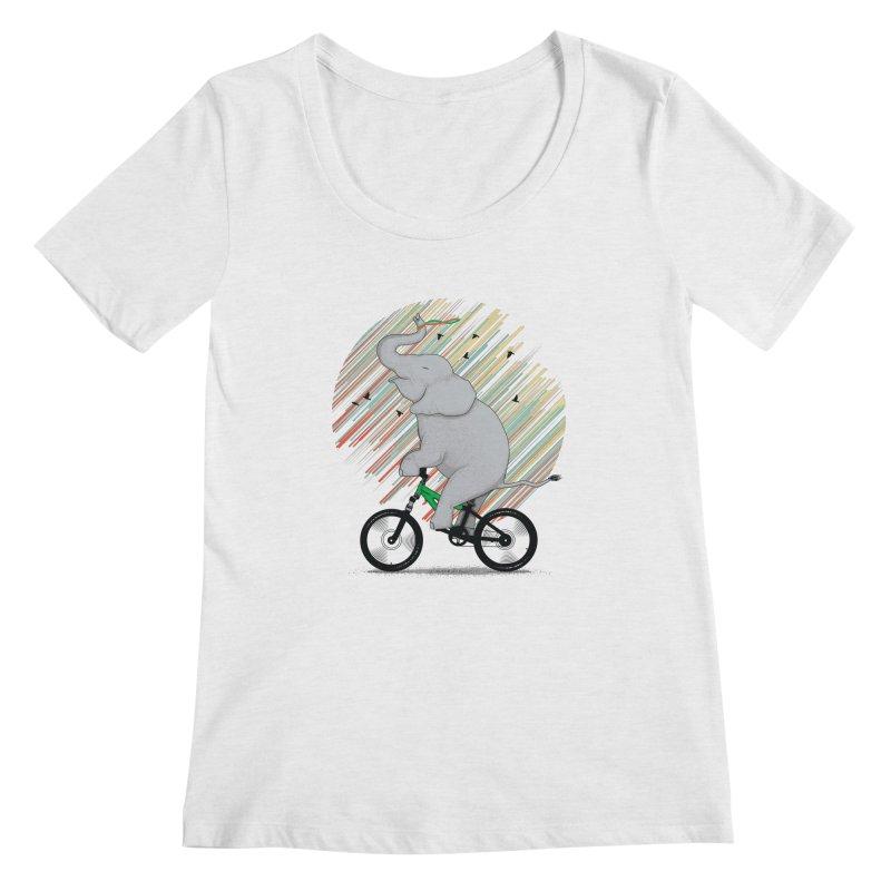 It's Like Riding a Bike Women's Regular Scoop Neck by yurilobo's Artist Shop