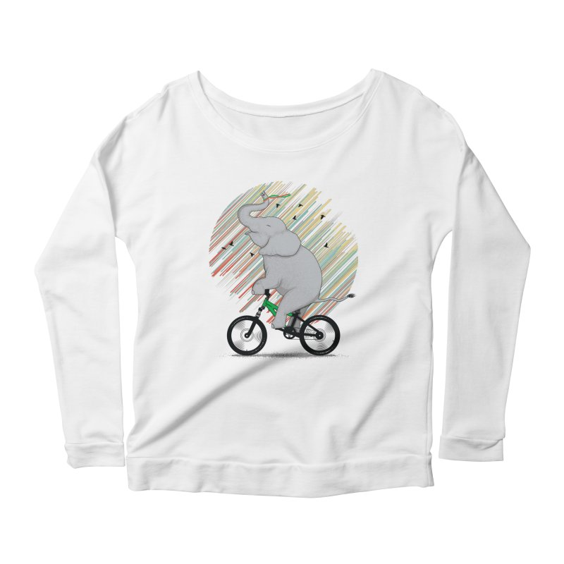It's Like Riding a Bike Women's Longsleeve Scoopneck  by yurilobo's Artist Shop