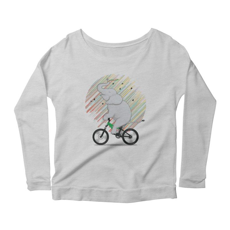 It's Like Riding a Bike Women's Longsleeve Scoopneck  by yurilobo's Artist Shop