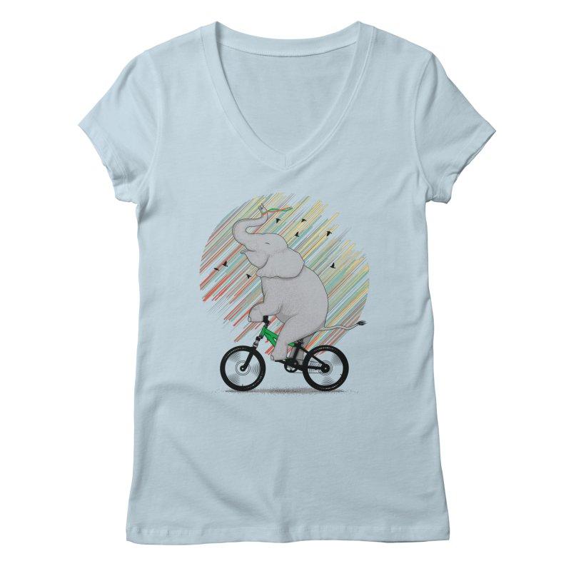 It's Like Riding a Bike Women's V-Neck by yurilobo's Artist Shop