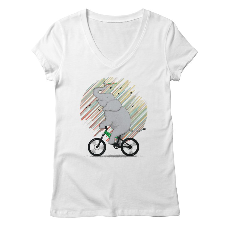 It's Like Riding a Bike Women's V-Neck by yurilobo's Artist Shop