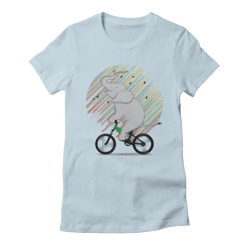 It's Like Riding a Bike Women's Fitted T-Shirt by yurilobo's Artist Shop