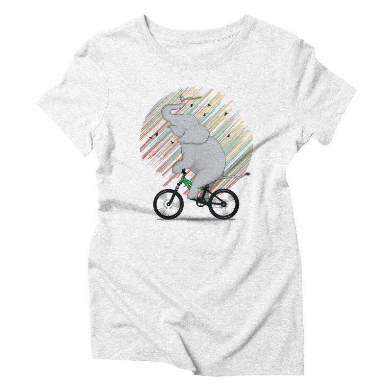 It's Like Riding a Bike Women's Triblend T-shirt by yurilobo's Artist Shop