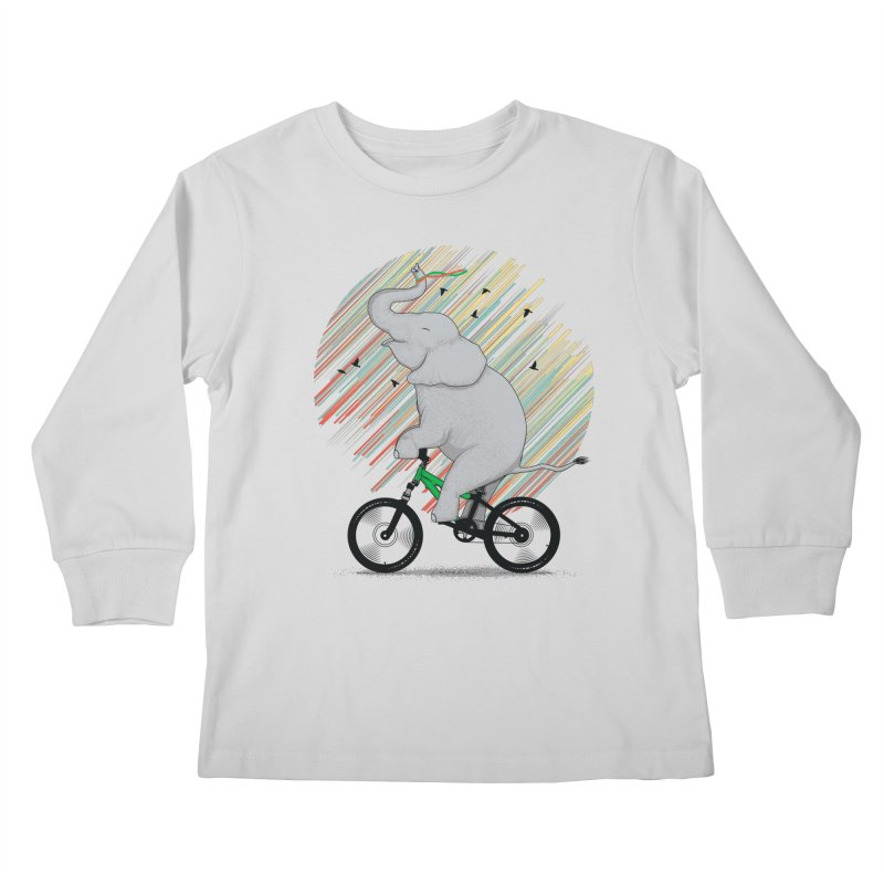 It's Like Riding a Bike Kids Longsleeve T-Shirt by yurilobo's Artist Shop
