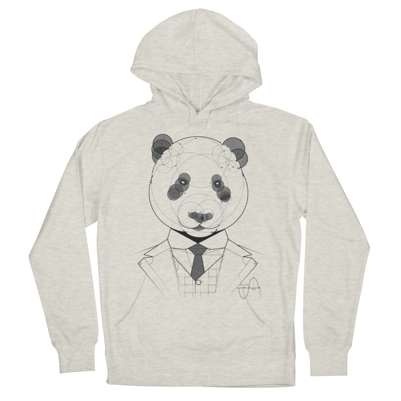 Geometric Panda Men's French Terry Pullover Hoody by yurilobo's Artist Shop
