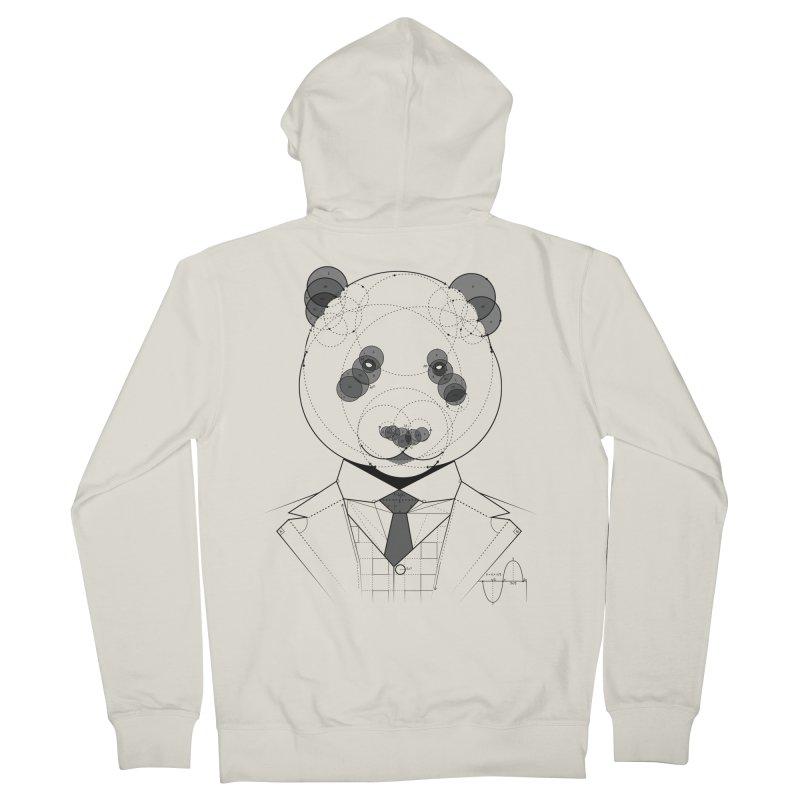 Geometric Panda Men's French Terry Zip-Up Hoody by yurilobo's Artist Shop