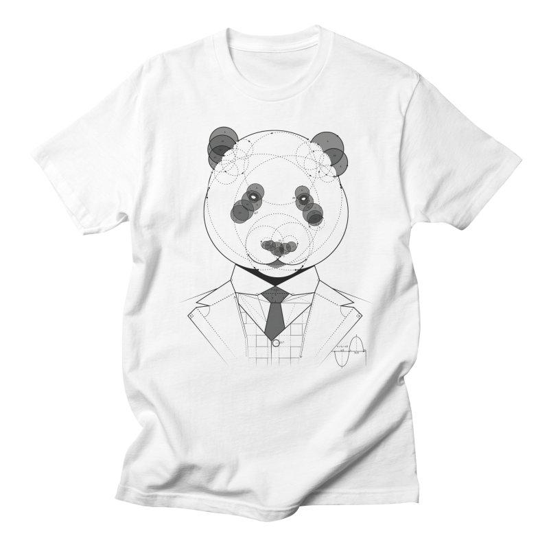 Geometric Panda Men's T-shirt by yurilobo's Artist Shop