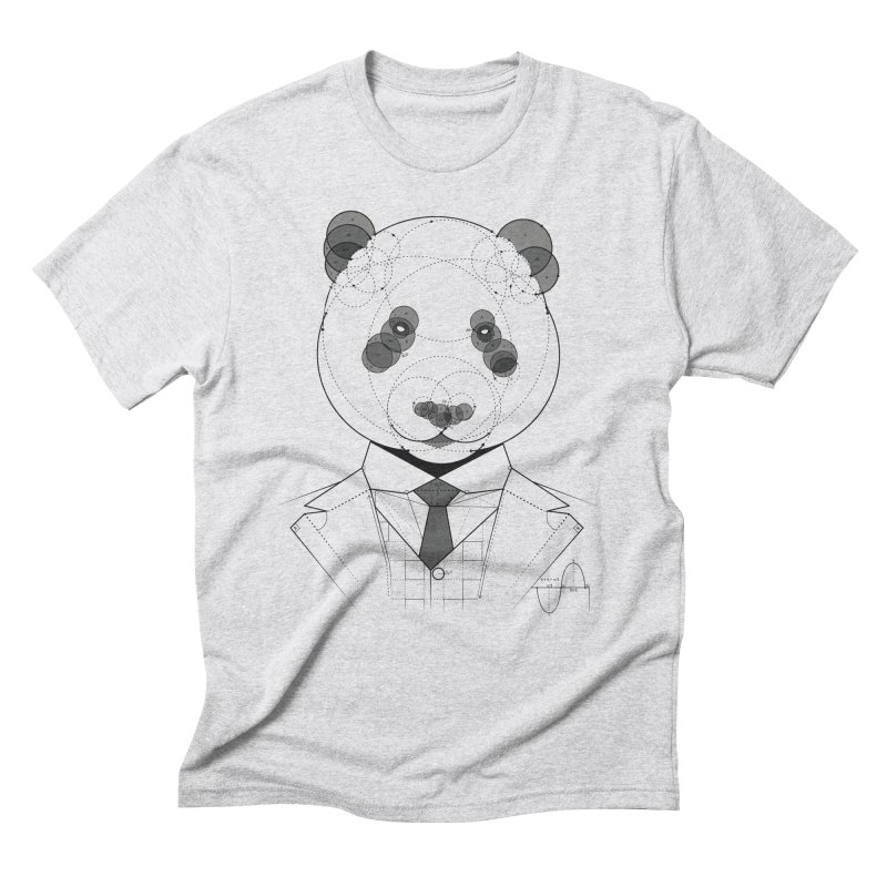 Geometric Panda Men's Triblend T-Shirt by yurilobo's Artist Shop